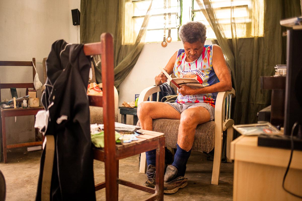 Ex-morador da Colônia da Mirueira. Foto: marcelo londono